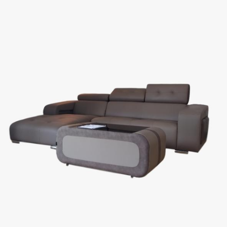 L SHAPE SOFA WITH COFFEE TABLE
